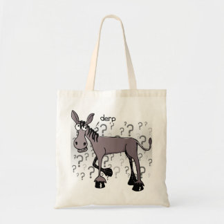 Donkey interrogation derp tote bag