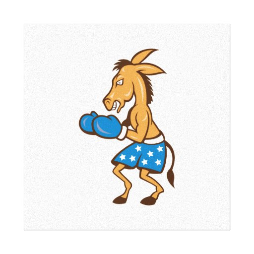 Donkey Jackass Boxer Victory Canvas Print