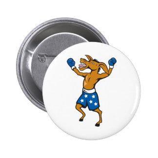 Donkey Jackass Boxer Victory Democrat 2 Inch Round Button