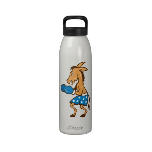 Donkey Jackass Boxer Victory Reusable Water Bottles