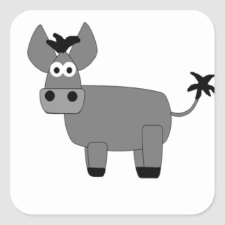 Donkey.jpg Square Sticker