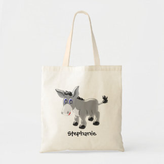 Donkey Just Add Name Budget Tote Bag