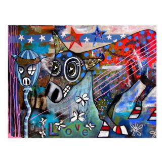 Donkey Love Postcard