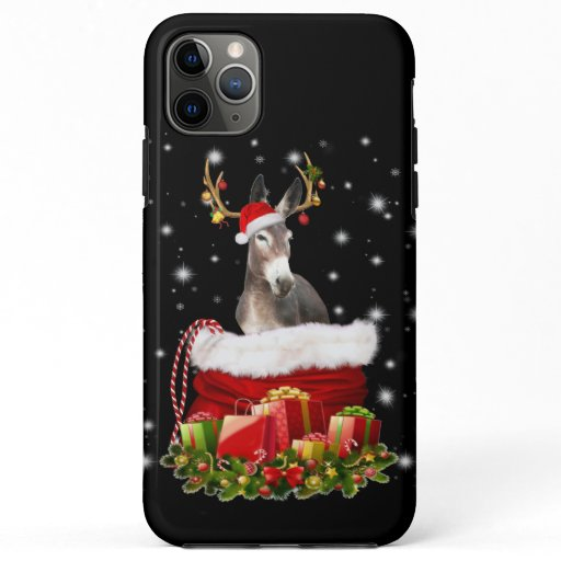 Donkey Lover Gift| Happy Donkey Merry Christmas iPhone 11 Pro Max Case