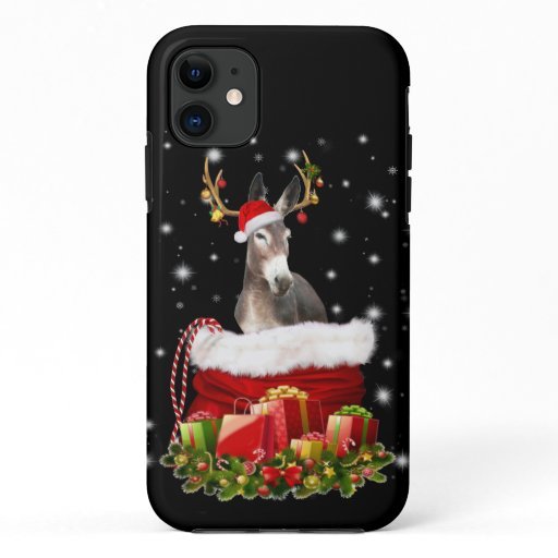 Donkey Lover Gift| Happy Donkey Merry Christmas iPhone 11 Case