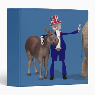 Donkey Lover Uncle Sam Binder