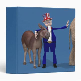 Donkey Lover Uncle Sam Binder