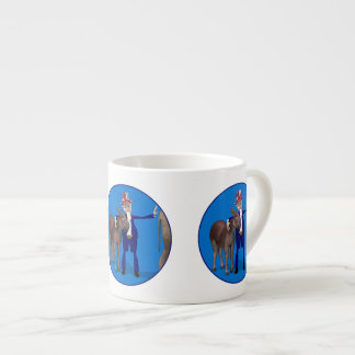 Donkey Lover Uncle Sam Espresso Cup