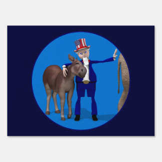 Donkey Lover Uncle Sam Lawn Sign