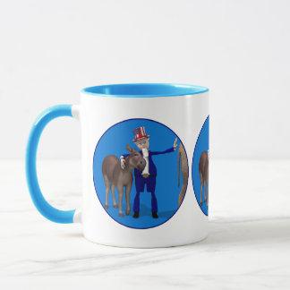 Donkey Lover Uncle Sam Mug
