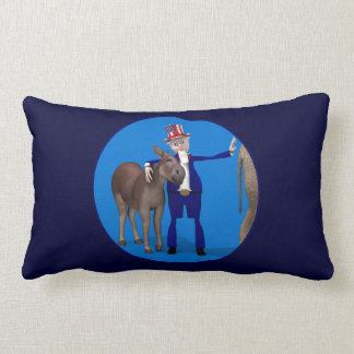 Donkey Lover Uncle Sam Pillow