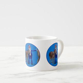 Donkey Lover Uncle Sam 6 Oz Ceramic Espresso Cup