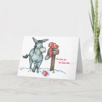 Donkey mailbox card