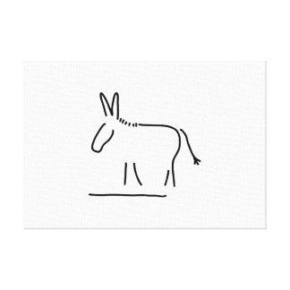 donkey maultier sturheit canvas print