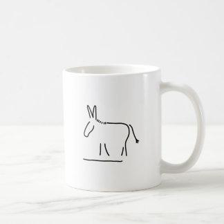donkey maultier sturheit coffee mug