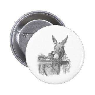 donkey mules pinback button