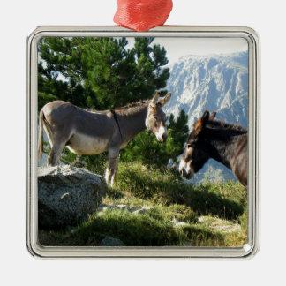 Donkey of Corsica Metal Ornament