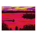 donkey on raft on Mississippi river Greeting Cards