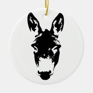 Donkey or Mule Graffiti Drawing Art Ceramic Ornament
