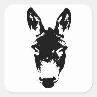 Donkey or Mule Graffiti Drawing Art Square Sticker