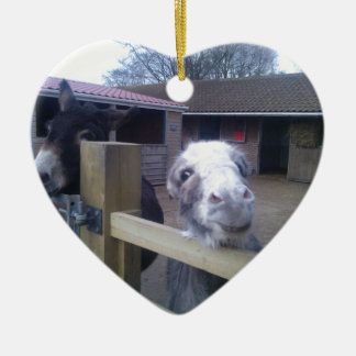 Donkey Ceramic Heart Decoration
