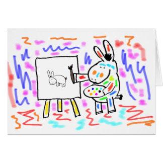 donkey painting card