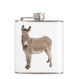 Donkey Photograph Design Hip Flasks