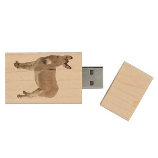 Donkey Photograph Design Wood USB 2.0 Flash Drive