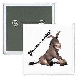 Donkey Pinback Button
