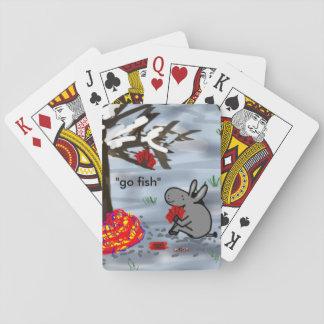 donkey playing go fish card decks