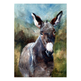 Donkey Portrait ArtCard Large Business Cards (Pack Of 100)