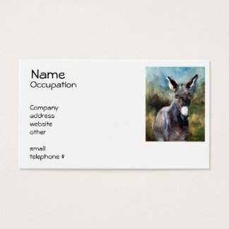 Donkey Portrait Business Card