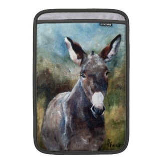 Donkey Portrait MacBook Sleeves