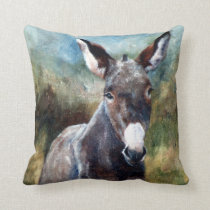 Donkey Portrait Pillow