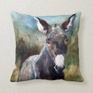 Donkey Portrait Pillow