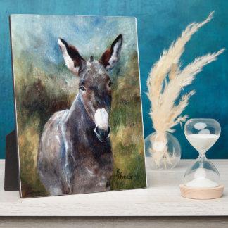 Donkey Portrait Plaque