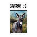 Donkey Portrait Postage Stamp