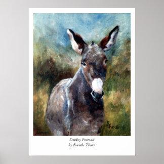 Donkey Portrait Poster