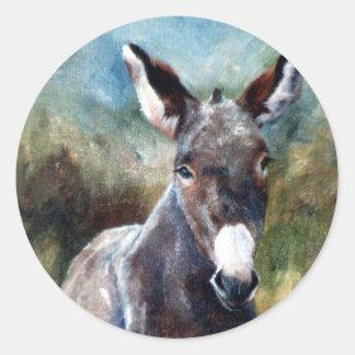 Donkey Portrait Sticker