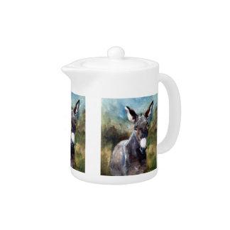 Donkey Portrait Tea Pot