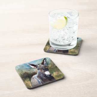 Donkey Portrait Tile Drink Coaster