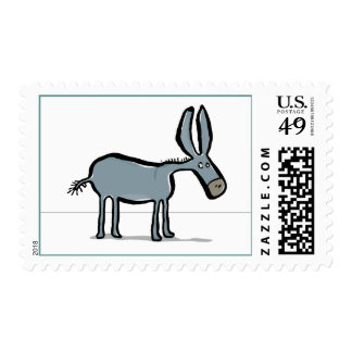 donkey postage stamp