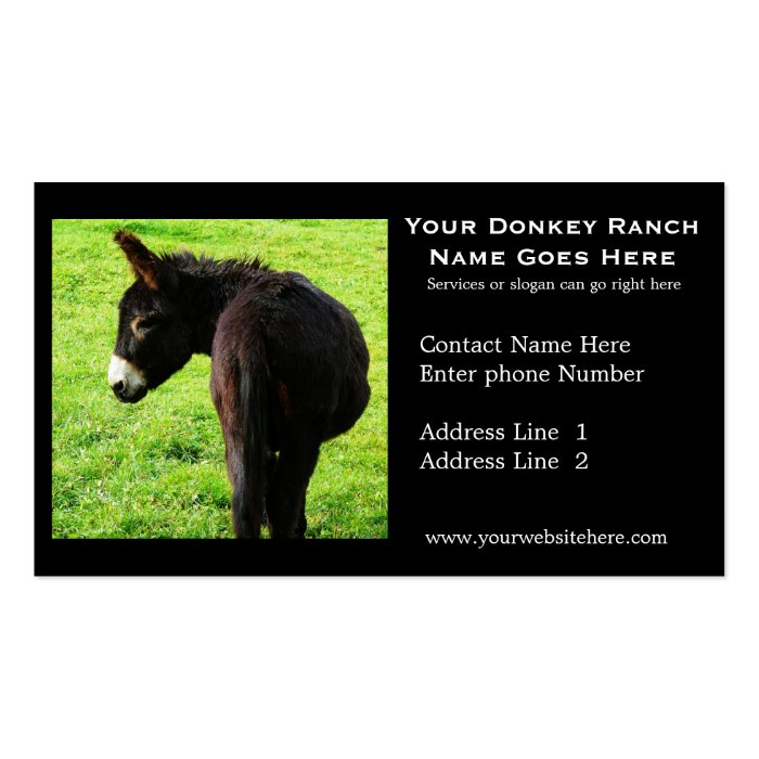 Donkey Ranch Business Card