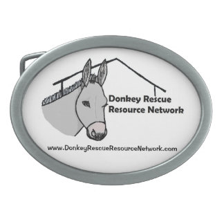 Donkey Rescue Resource Network Accessories Oval Belt Buckles