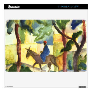 Donkey Rider by August Macke Skin For MacBook