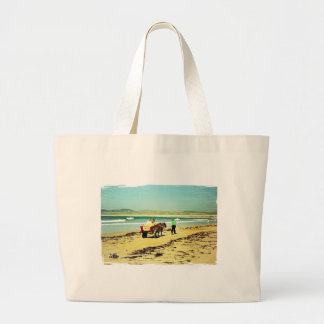 Donkey riding large tote bag