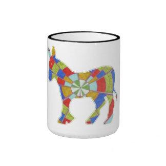 Donkey Rock - American Elections Votes USA America Ringer Coffee Mug