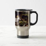 Donkey rooster farm coffee mugs
