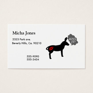 Donkey Says Kiss It With Kissy Lips Business Card