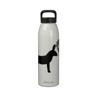 Donkey Says Kiss It With Kissy Lips Water Bottle